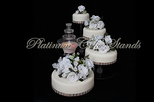 4 Tier Cascade (4 Tier Cascade Wedding Cake Stand with fountain (STYLE R405))