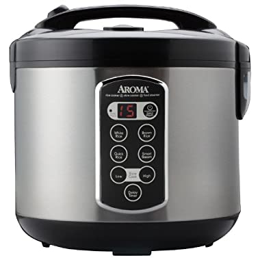 Aroma Housewares Professional 20-Cup (Cooked)  (10-Cup UNCOOKED) Digital Rice Cooker, Food Steamer & Slow Cooker (ARC-2000ASB)