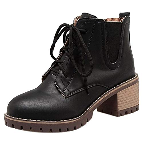 High Chunky Black Coolcept Women Boots Ankle Classic Z4gCq
