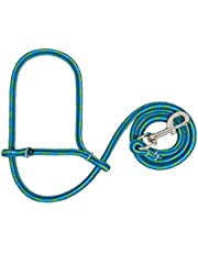Weaver Leather Poly Rope for Sheep Halter with Snap, Lime/Hurricane Blue/Royal Blue, Average