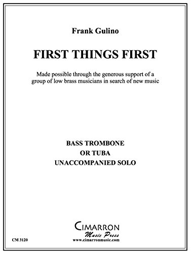 First Things First (1st Trombone Music Book)