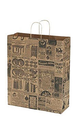 Jumbo Newsprint Paper Shopping Bags - Case of 100 by STORE001