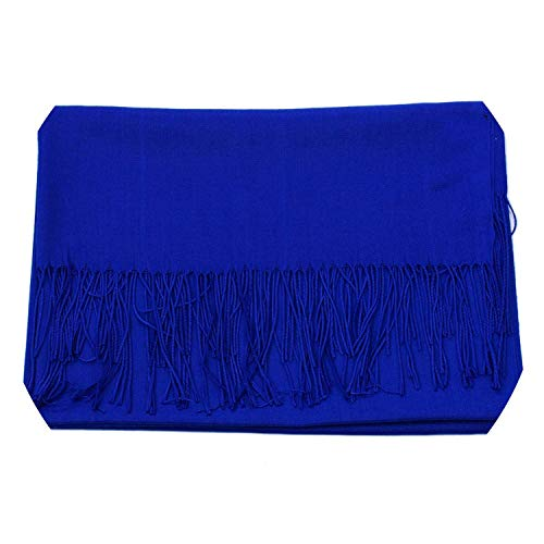 Sevem-D Women Solid Color Cashmere Scarves With Tassel Lady Winter Thick Warm
