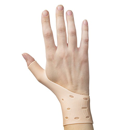 2 Breathable Gel Wrist & Thumb Support Braces for Right & Left Hand | Proven to Relieve Wrist & Thumb Pain Including Arthritis, Rheumatism, Carpal Tunnel | Soft, Comfortable & Light Weight by Excelyfe (Image #3)
