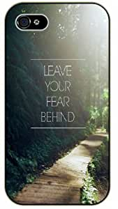 Leave your fear behind - Wooded path - Bible verse IPHONE 5C black plastic case / Christian Verses