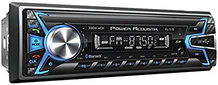 POWER ACOUSTIK PL-51B Single-DIN In-Dash Digital Audio Receiver (Bluetooth(R), Detachable Face)