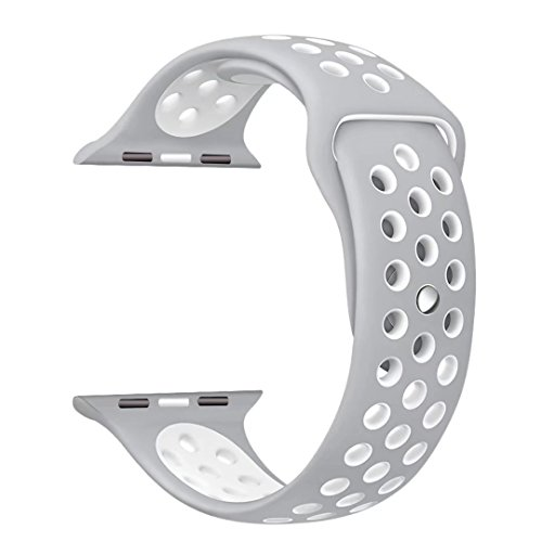 StarMoring Silicone Replacement iWatch Silver