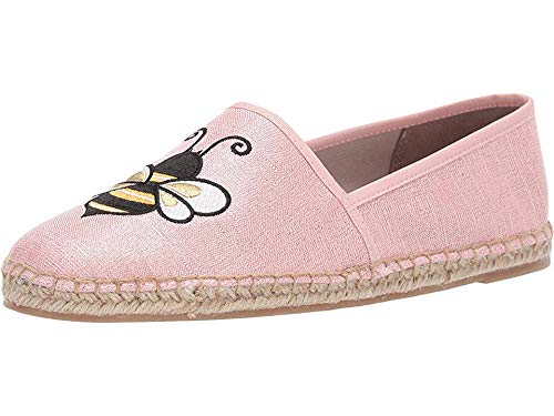 Circus by Sam Edelman Women's Leni-6 Moccasin Heirloom Rose Metallic Linen 7.5 M US