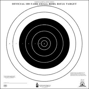 NRA 100 YARD SMALL BORE RIFLE TARGET 10 (100 Yard Small Bore Rifle)