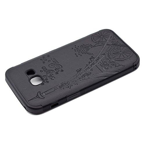 inShang Funda para Samsung Galaxy A3(2017) suave TPU Carcasa Cajas Soporte Skin case cover Para Galaxy A3(2017) Black tower