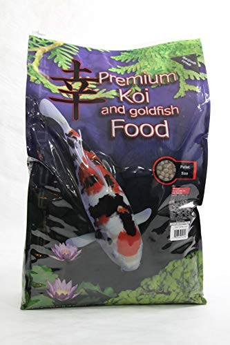 Blackwater Premium Koi and Goldfish Food Color Enhancing Diet 12.8lb Medium Pellet (Best Food For Goldfish Growth)
