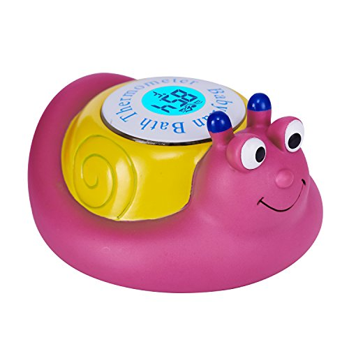Babylian Floating Snail Toy Bath Thermometer for Baby Bathin