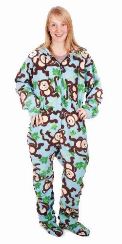 Unisex Pijama Para Blue Monkey Adulto Lazy Forever On Print ORqnBHn