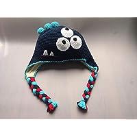 GorroMonstruo Azul con tres ojos para niño