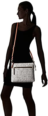 Fossil Fiona Crossbody White and Black