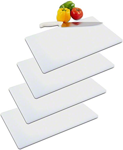 Tiger Chef 18 by 30 by 1/2 inch Cutting Board - White - High-Density Polyethylene A great, Versatile Cutting Board for Easy Cutting, Slicing, and Chopping. NSF CERTIFIED - INCLUDES FREE KNIFE