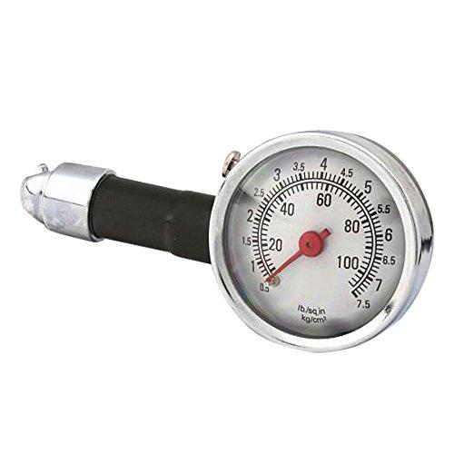 Other Tools - Car Dial Tire Gauge Meter Precision Pressure Tyre Measure Metal - Metal Tire Pressure Gauge Guage - 1PCs
