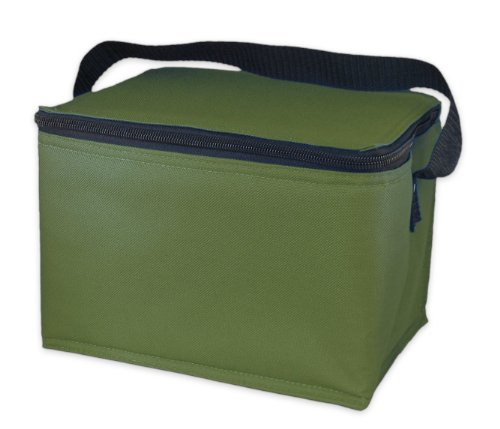 EasyLunchboxes Insulated Lunch Box Cooler Bag, Olive