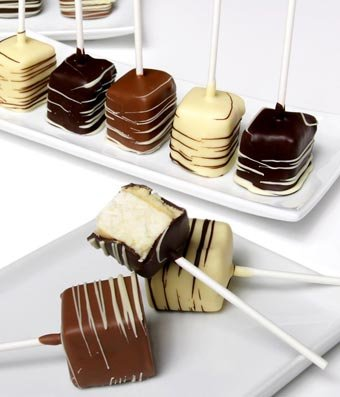 From You Flowers - Chocolate Covered Cheesecake Pops - 10 Pieces