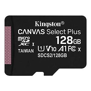 キングストン microSD 128GB 最大100MB/s UHS-I V10 A1 Nintendo Switch動作確認済