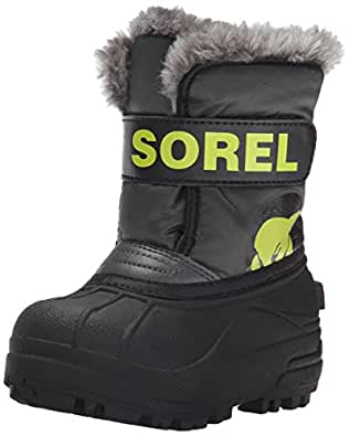 Sorel Commander Grill Fission Cold Weather Boot (Toddler/Little Kid), Grill/Fission, 4 M US Toddler