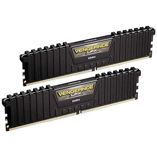 Corsair CMK16GX4M2B3000C15 Vengeance LPX 16 GB (2 x 8 GB) DDR4 3000 MHz C15 XMP 2.0 High Performance Desktop Memory Kit, Black