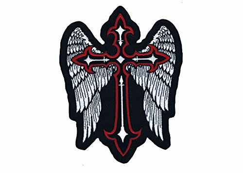 Lethal Threat (LT30201 Winged Cross Embroidered Patch