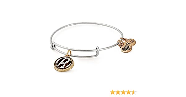 Authentic Alex and Ani Initial M Two Tone Sterling Silver Charm