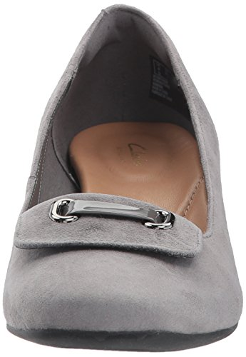 Clarks Womens Tealia Gia Dress Pump Grigio Camoscio
