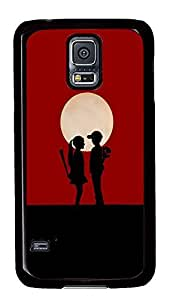 Samsung S5 durable cases Love Couple Girlys PC Black Custom Samsung Galaxy S5 Case Cover