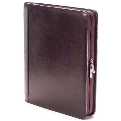 Clava Leather Tuscan Leather - Clava Extreme File Leather Padfolio in Tuscan Cafe