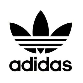 Adidas アディダス ロゴ マーク ステッカー シール デカール (ブラック)