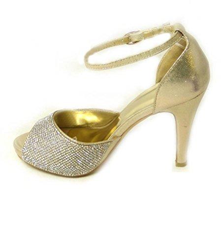 SKOS - Sandalias de vestir de Material Sintético para mujer - Gold (567-208)