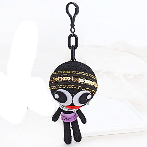 Voodoo Doll Demons Monsters Evil Bag Pendant Hand-made Woven Key Chains Rings Holder