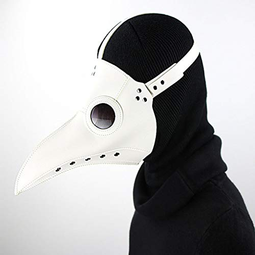 MAHLOWW PU Leather Steampunk Retro Masks Gothic Plague Doctor Bird Crow Mask for Men Halloween Cosplay Costume (Color : ()