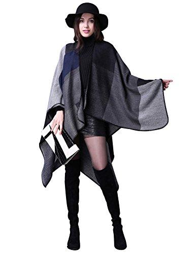 GRACE KARIN Cape Imprime Colore Femme Taille Unique Claf1039-1