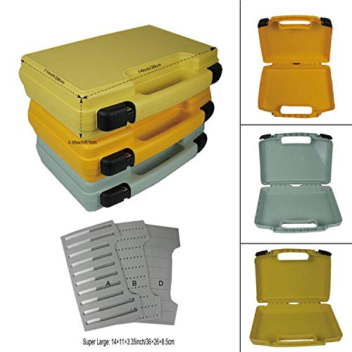Aventik Streamer Fly Box Super Large Fly Fishing Box 14X11X3.35 inch /360X 260X85mm Yellow in Three Colors with Three Different Foams (Fly Boat Fishing)