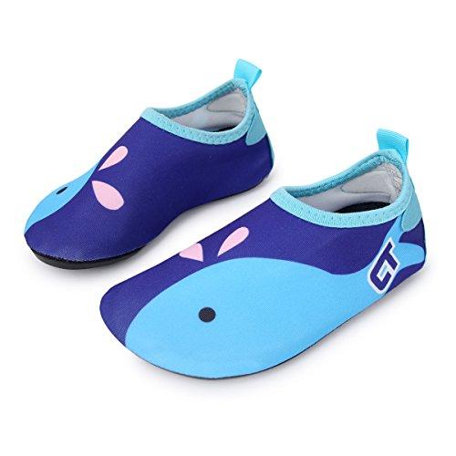 l-run Kids Swim Barefoot Aqua calcetines zapatos de agua zapatos para playa piscina Surf Yoga azul marino