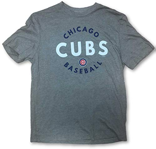 Outerstuff Chicago Cubs Baseball Adult T-Shirt Large Gray (Shirt Chicago Cubs Gray)