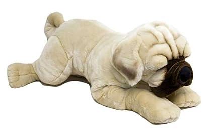 Amazon Com Giant Plush Lying Pug Dog 45 Stuffed Animal Toys Games