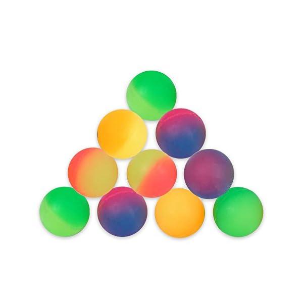 Schramm® 10 Pezzi di Palle di Gomma Frost 27mm Palla Gonfiabile in Gomma Jump Ball con Lotteria Festa di Compleanno dei… 3 spesavip