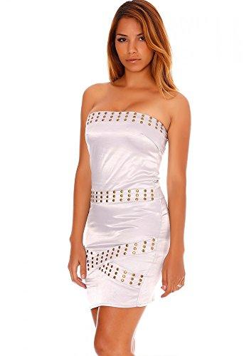 dmarkevous - Vestido - Corsé - para mujer blanco