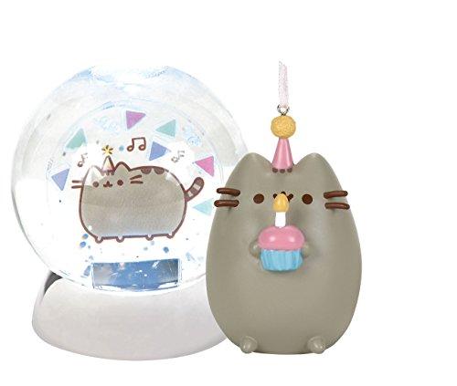 Pusheen Birthday Waterdazzler Water Globe and Pusheen Happy Birthday (Water Globe Ornament)