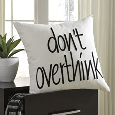 Don't Overthink Pillow White