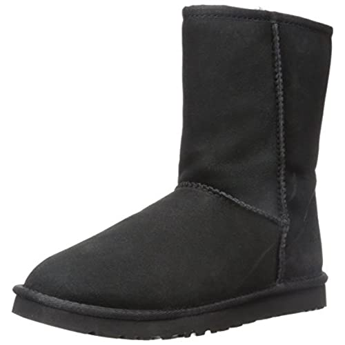 UGG Australia Women's Classic Short Black Sheepskin Boot - 7 B(M) US