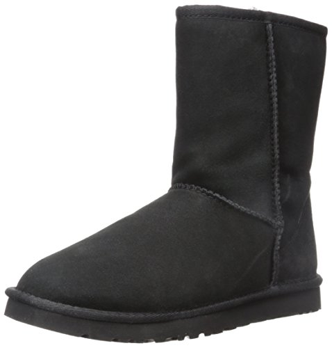 UGG Men's Classic Short Sheepskin Boots, Black, 8 D(M) US