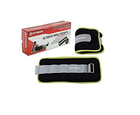 G-Fitness Pesas para tobillo (2 unidades, 2 kg), color negro: Amazon.es: Deportes y aire libre