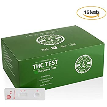 MED TECH APPROVED (15) Marijuana Drug Tests + Professional grade THC tests + HIGH SENSITIVITY & ACCURATE + BONUS Educational FAQs pdf file + 100% LAB-QUALITY results!