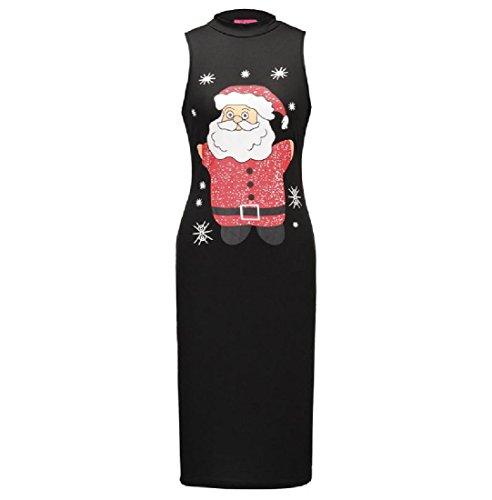 Pattern2 Stampato Donne Dell'anca Maniche Vestito Senza Solido Comodi Natale Sottile Pacchetto qTwXTvS