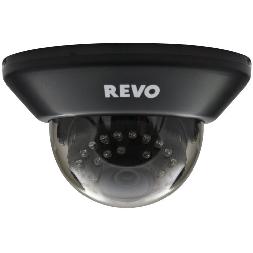 Revo RCDS30-3 Surveillance Dome Camera -700TVL IR LED 100Ft Night Vision -Indoor Home/Business Video Security System by REVO America
